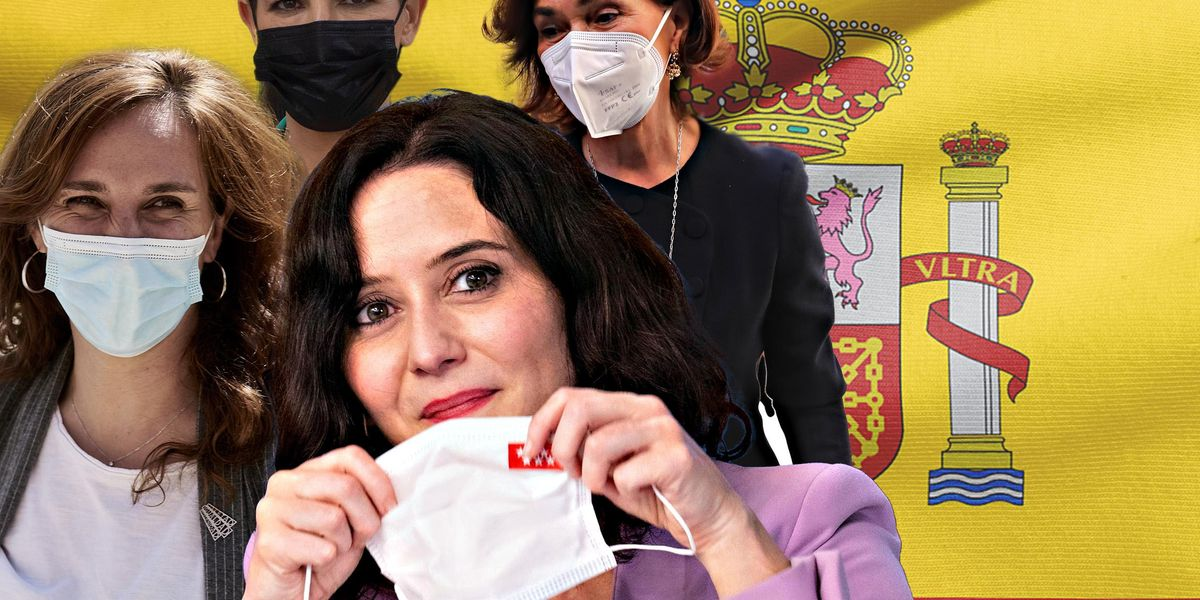 Monica Garcia, Rocio Monasterio, Carmen Calvo, Isabel Diaz Ayuso