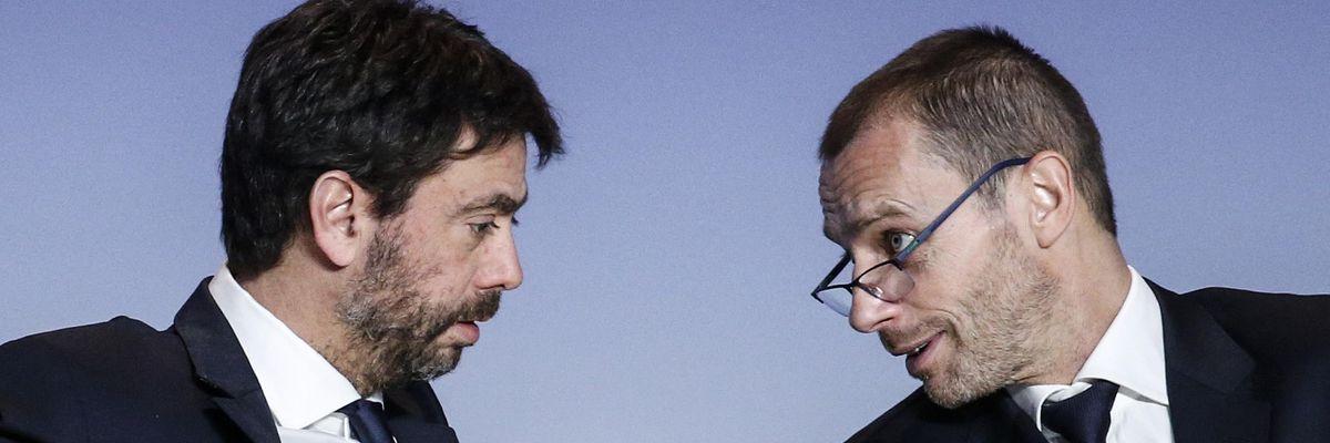 superlega ceferin agnelli scontro ministro giustizia svizzera uefa fifa sanzioni