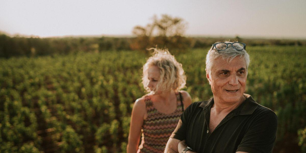 Antonio Intiglietta, presidente di Gestione Fiere Spa, ideatore  di Artigiano in Fiera  e patron, in Puglia,  della Tenuta Liliana  che prende il nome da sua moglie, con lui nella foto.