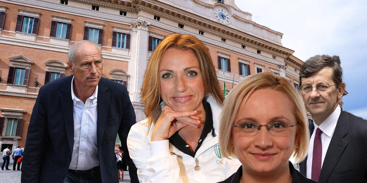 Massimo Caputi, Valentina Vezzali, Ileana Cathia Piazzoni, Vittorio Colao.