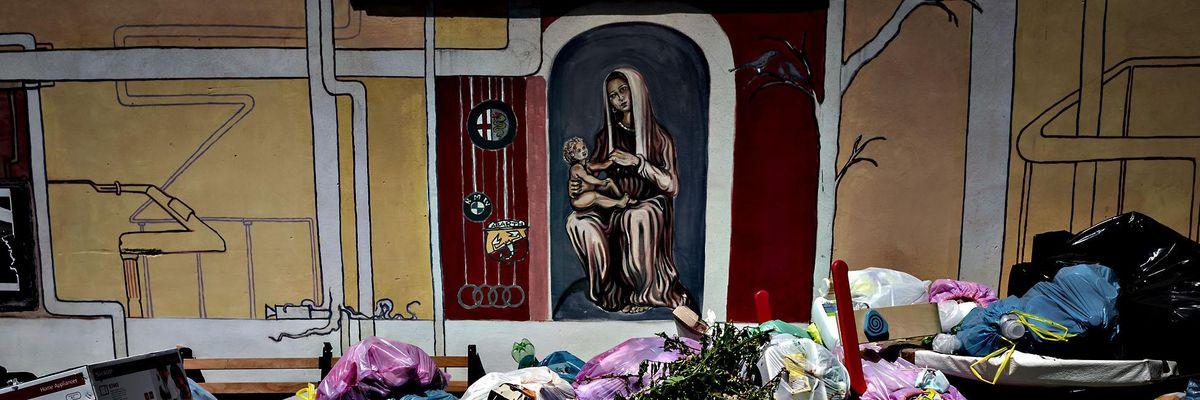 Roma rifiuti immondizia
