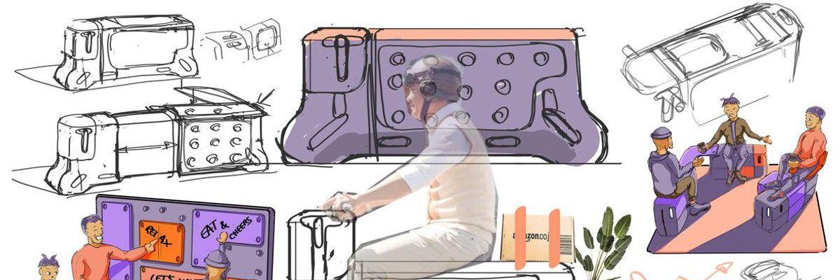 Il futuro della mobilità? Una panchina con le ruote