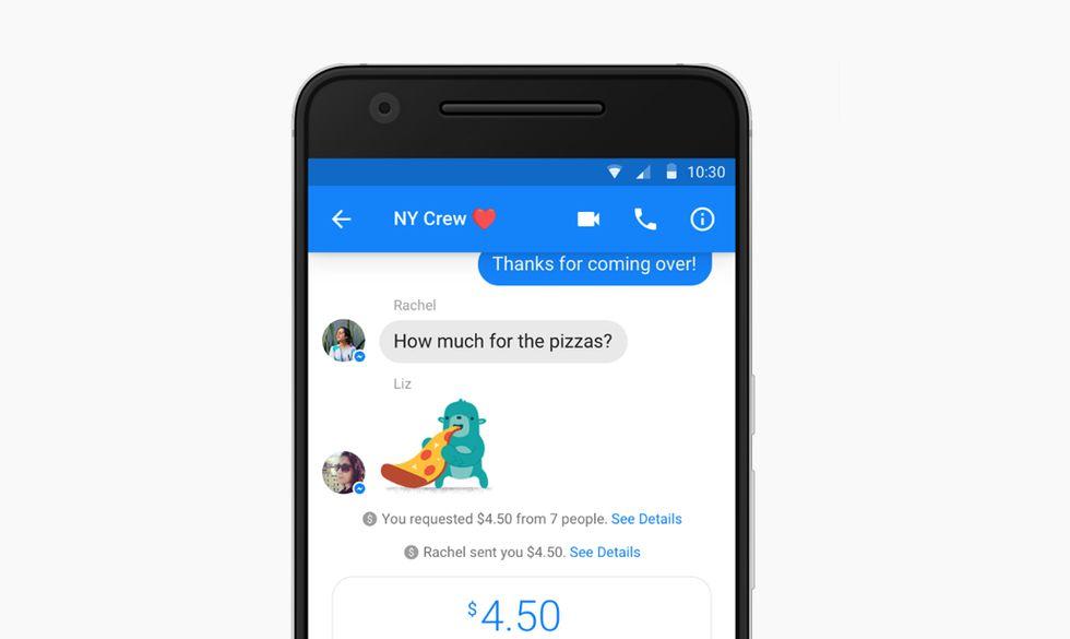 Facebook Messenger Pagamenti Gruppo