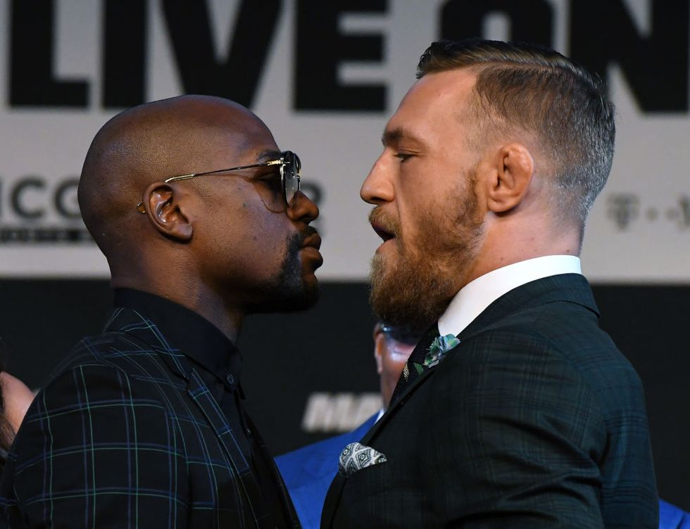 Floyd-Mayweather-Conor-McGregor - News Conference