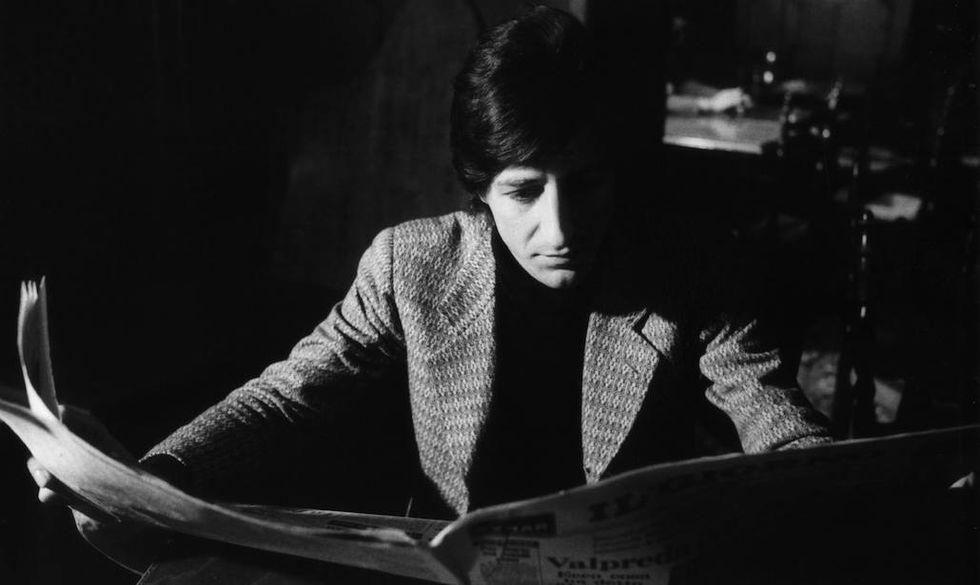 Giorgio Gaber in una foto storica di Luigi Ciminaghi