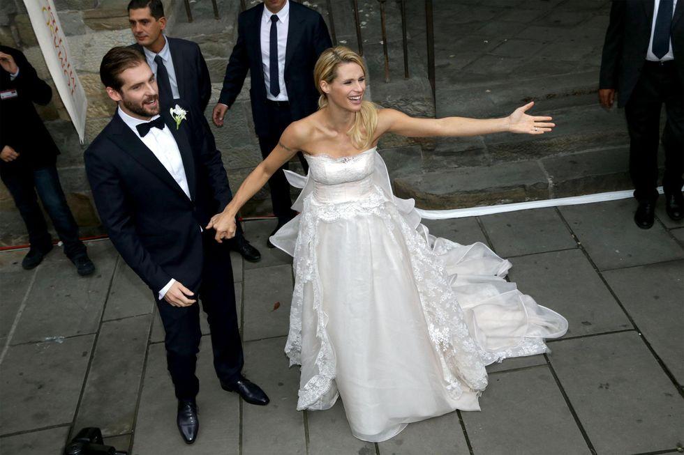 Michelle Hunziker e Tomaso Trussardi: le prime foto del matrimonio