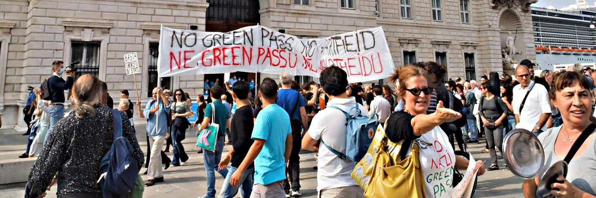 Green pass Trieste