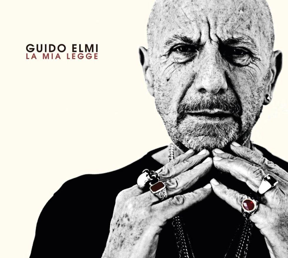 Guido Elmi nella copertina del suo unico album solista