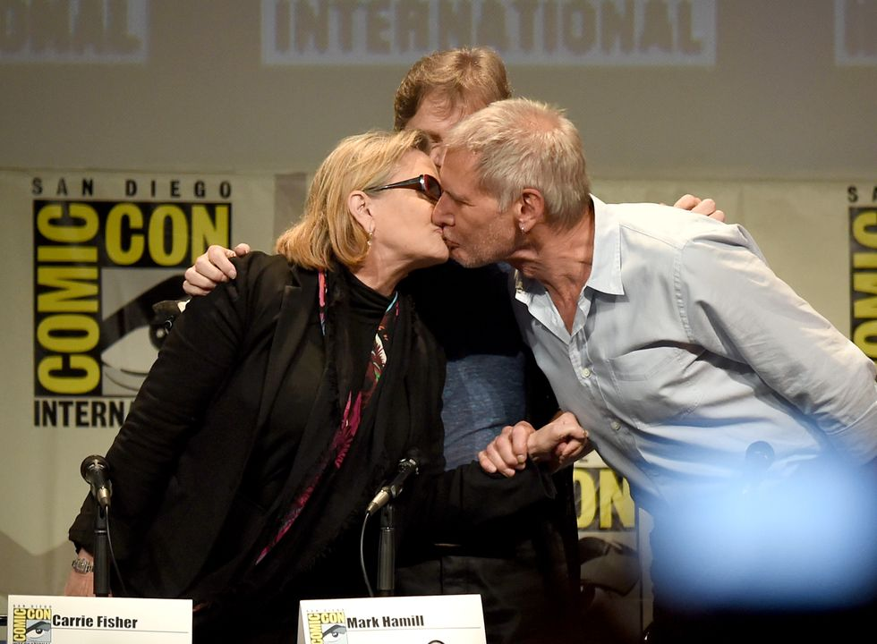 Harrison Ford e Carrie Fisher oggi