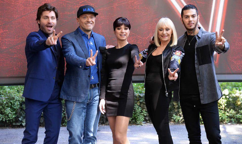 I giudici di The Voice 4 con il presentatore Federico Russo