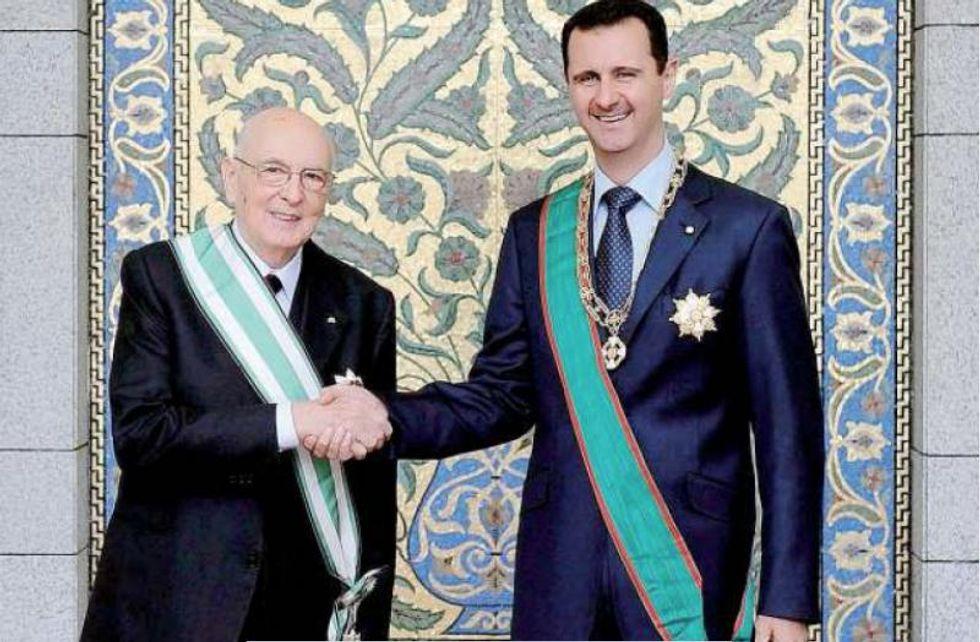 Assad ancora sul trono ma senza medaglia