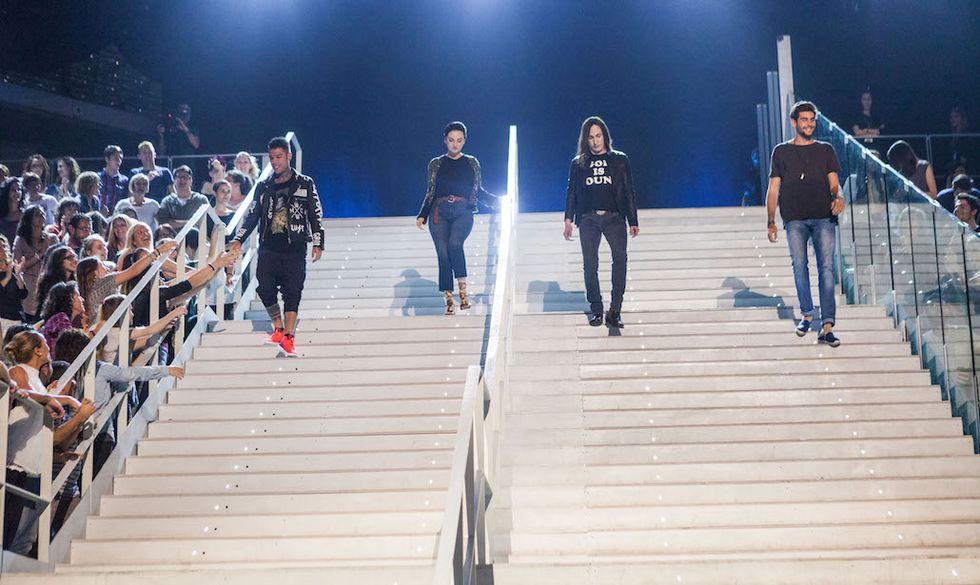 I quattro giudici di X Factor 10. Da sinistra: Fedez, Arisa, Manuel Agnelli e Alvaro Soler