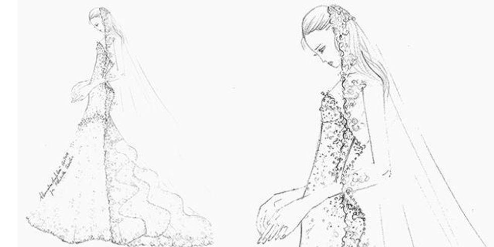Elisabetta Canalis ha scelto l'abito da sposa
