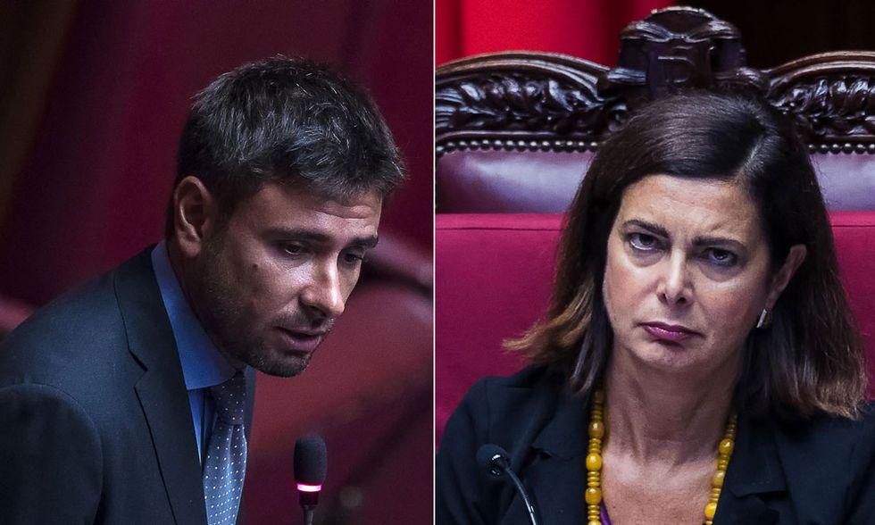 Alessandro Di Battista e Laura Boldrini