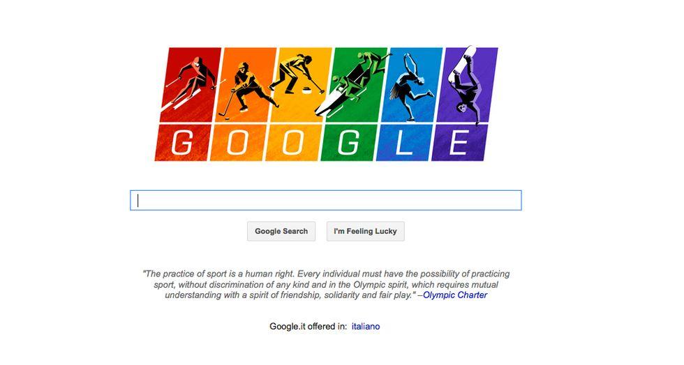 Google, il Doodle per Sochi contro le leggi anti-gay