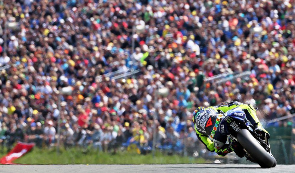 Valentino Rossi soltanto quarto in Germania
