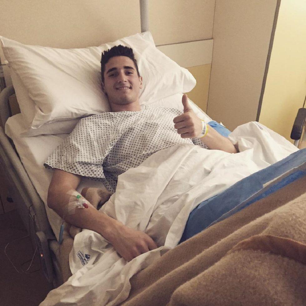 Mattiello saluta e ringrazia tutti dall'ospedale
