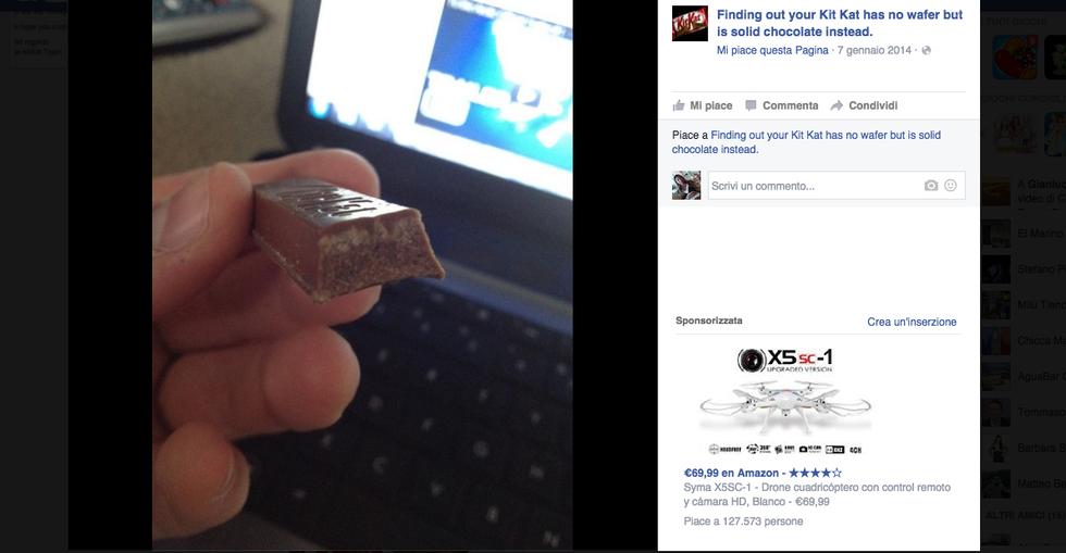 Il KitKat senza cialda