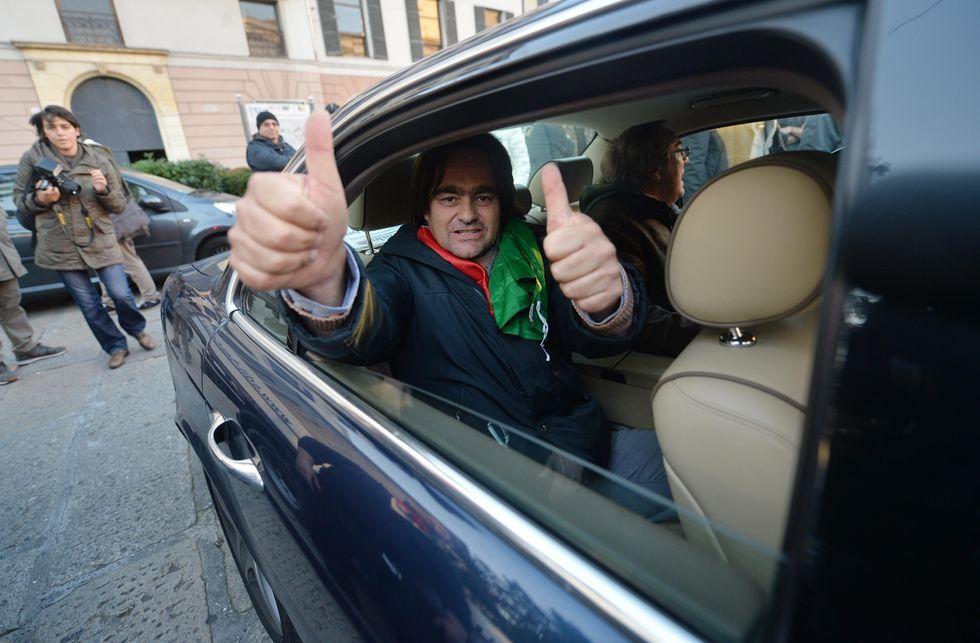Il leader dei Forconi in Jaguar impazza su twitter