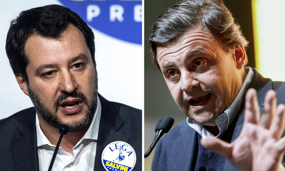 Matteo Salvini e Carlo Calenda