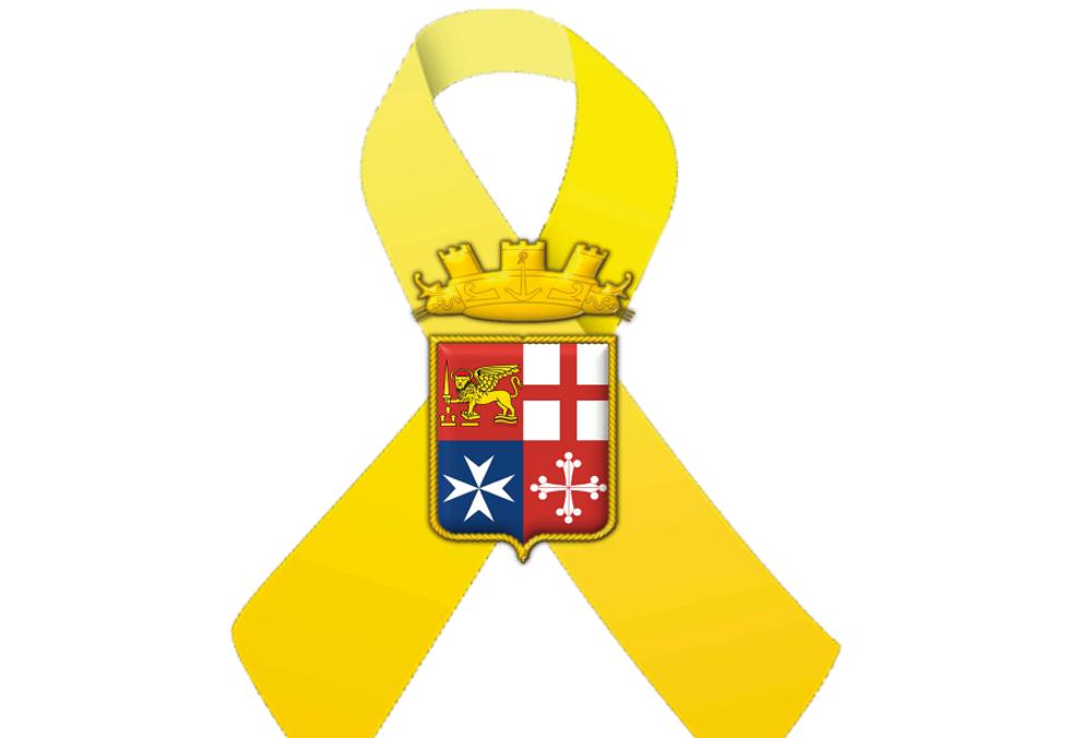 A scuola in regalo un nastro giallo per ricordare i Marò