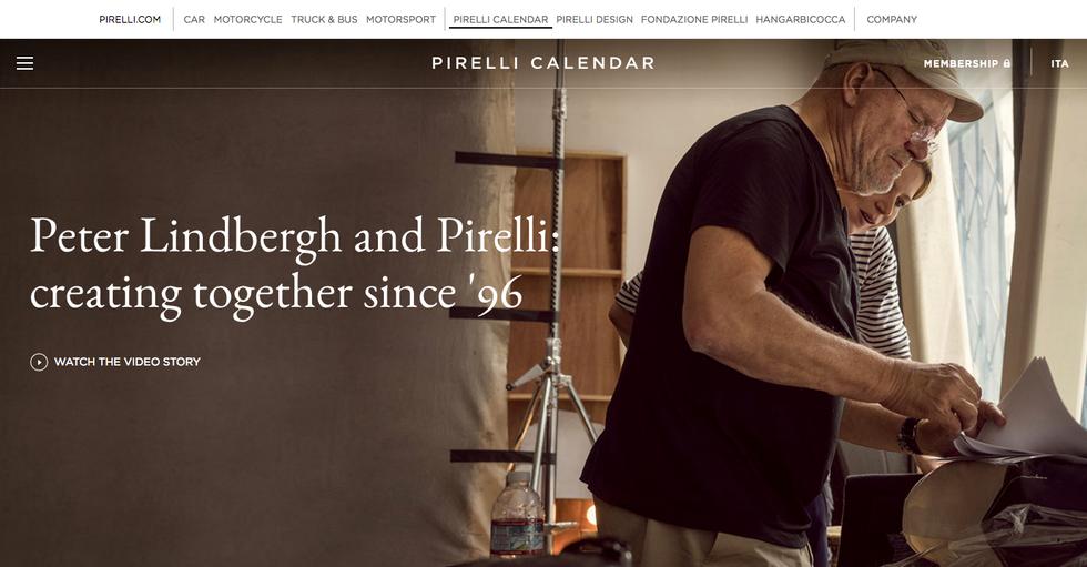 Il nuovo sito del Calendario Pirelli