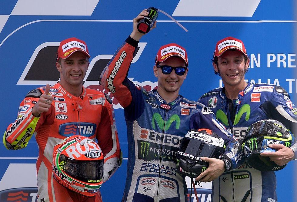 Gp Italia: Lorenzo il Magnifico fa il tris, Iannone 2°, Rossi 3°