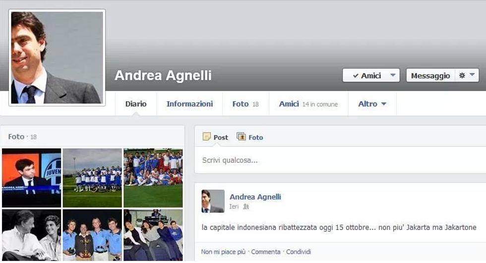Caro Andrea Agnelli, su Jakartone deve sapere...