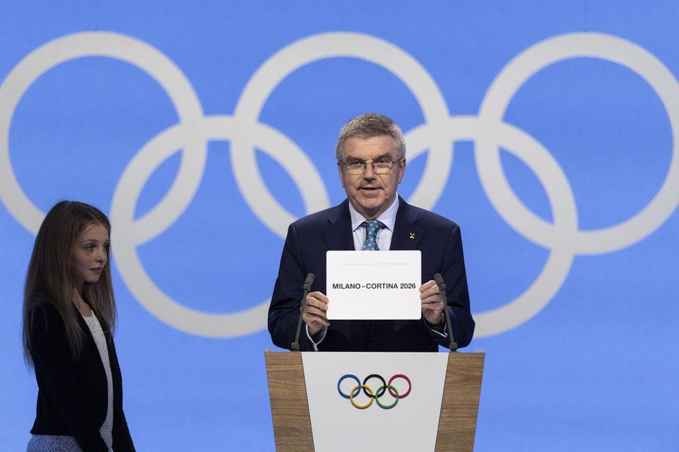 olimpiadi 2026 milano cortina annuncio losanna bach