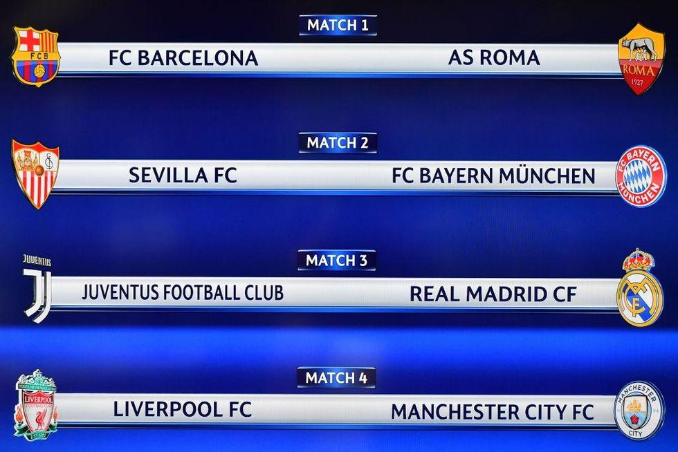 champions league quarti di finale sorteggio juventus roma