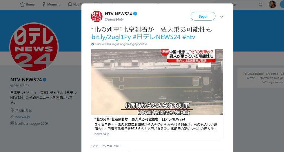 Il treno nord coreano