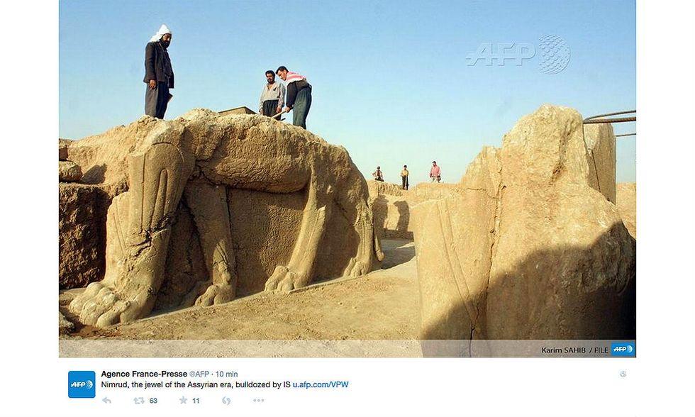 Iraq: Nimrud, l'Isis distrugge il sito archeologico