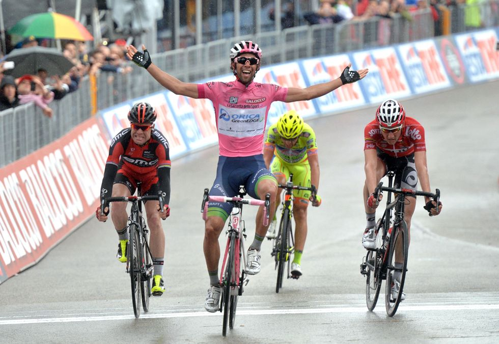 Giro - A Montecassino Matthews sempre più maglia rosa