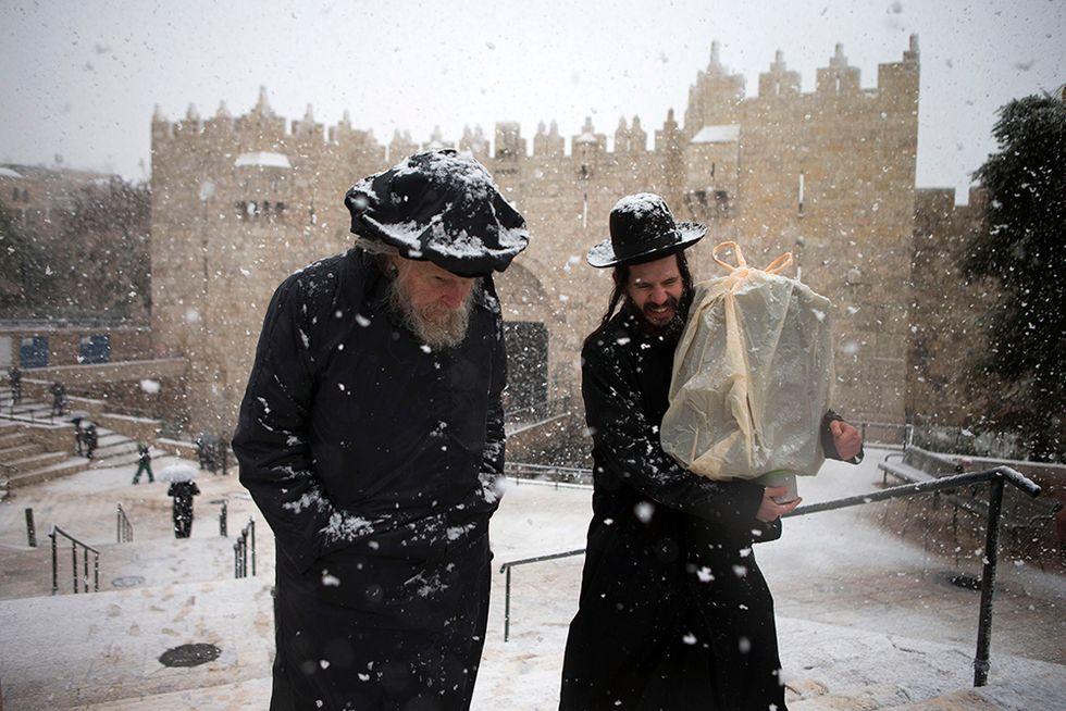 La neve a Gerusalemme
