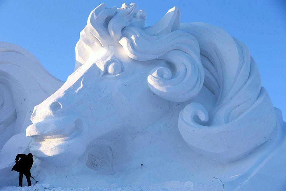 Sculture di neve a Harbin, Cina