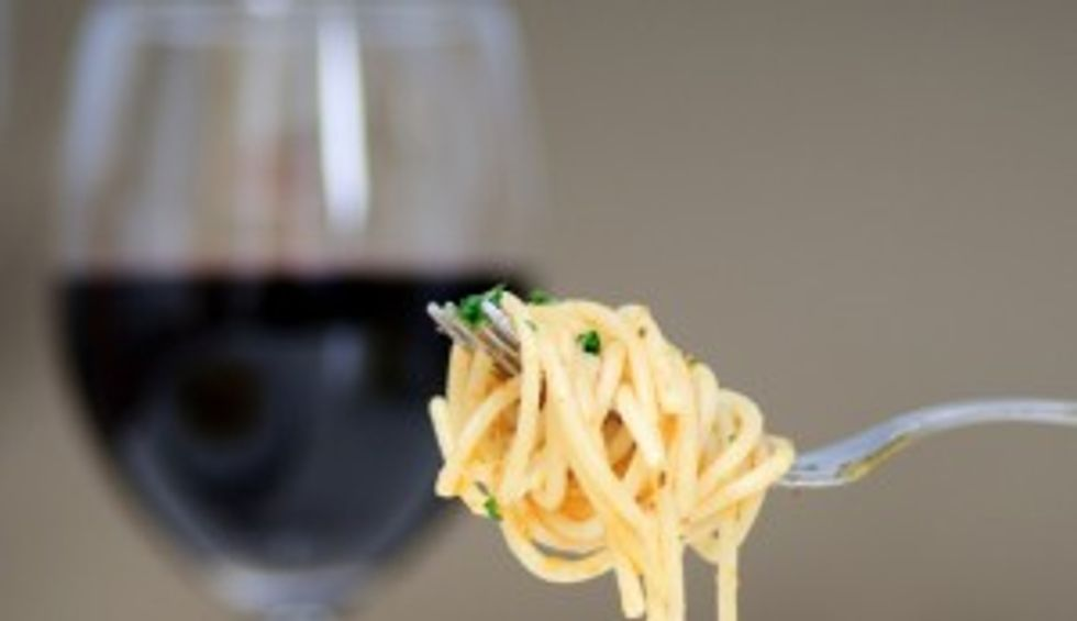 Spaghetti & champagne