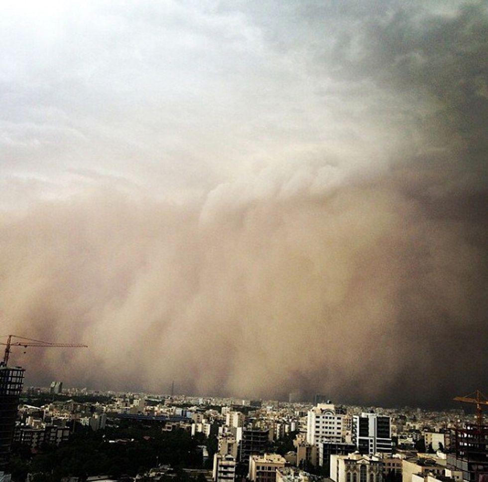 La tempesta di sabbia a Teheran
