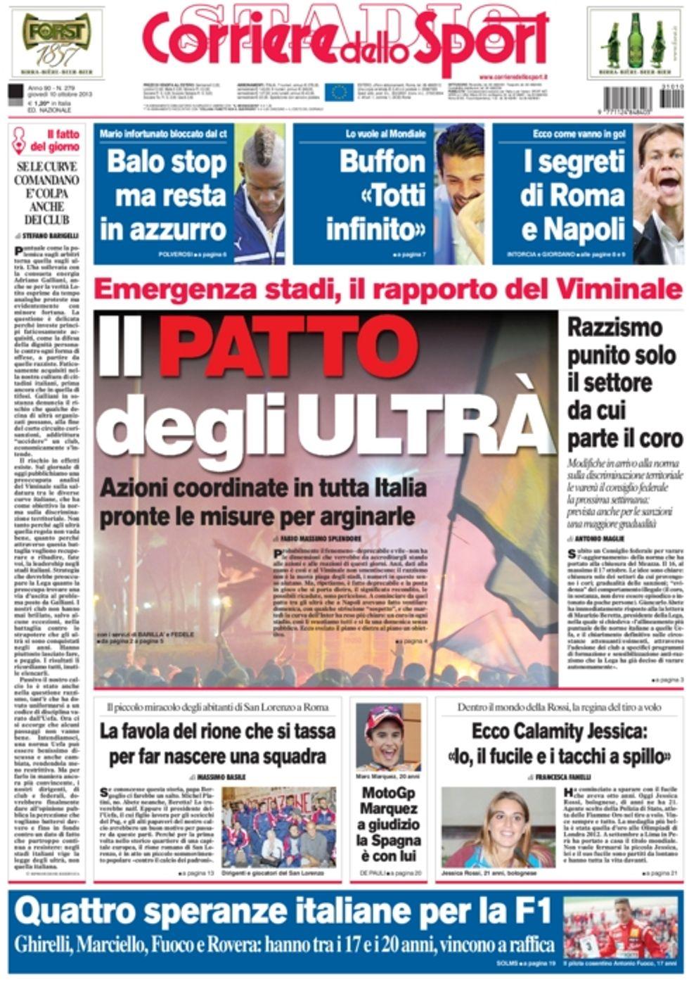 RASSEGNA - Calcio e ultras, scontro finale