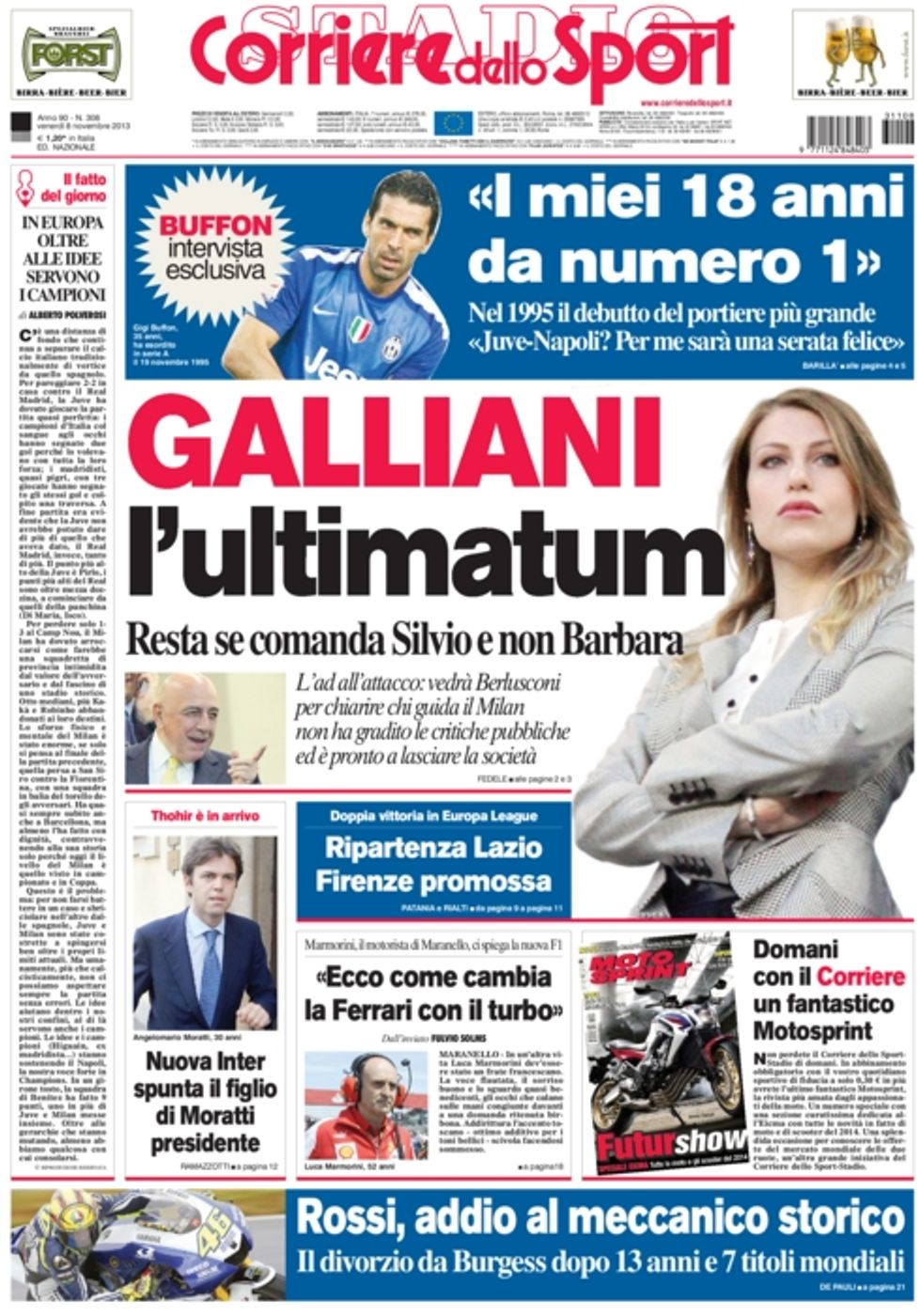 RASSEGNA - Il doppio colpo di Fiorentina e Lazio