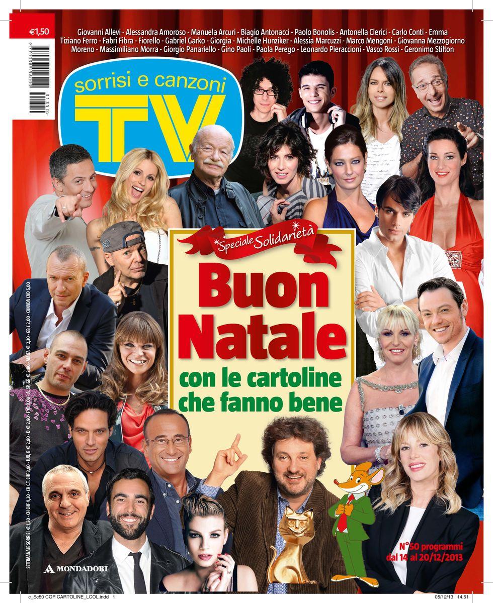 """""""Auguri d'artista"""" con Tv Sorrisi e Canzoni"""