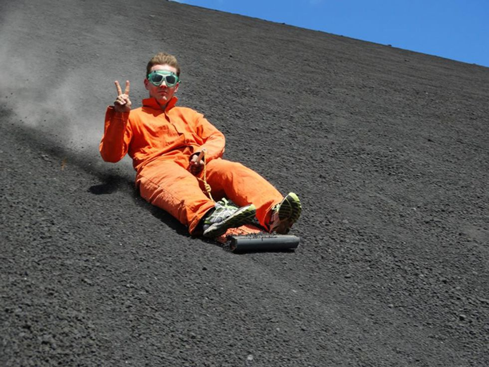Surf giù dal vulcano