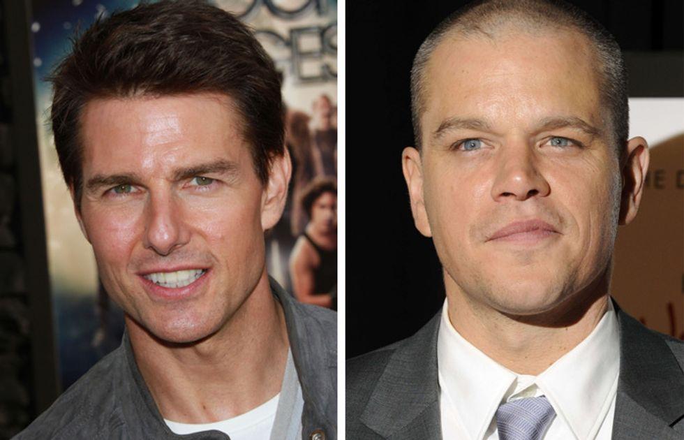 Tom Cruise e Matt Damon sculacciati da un trans