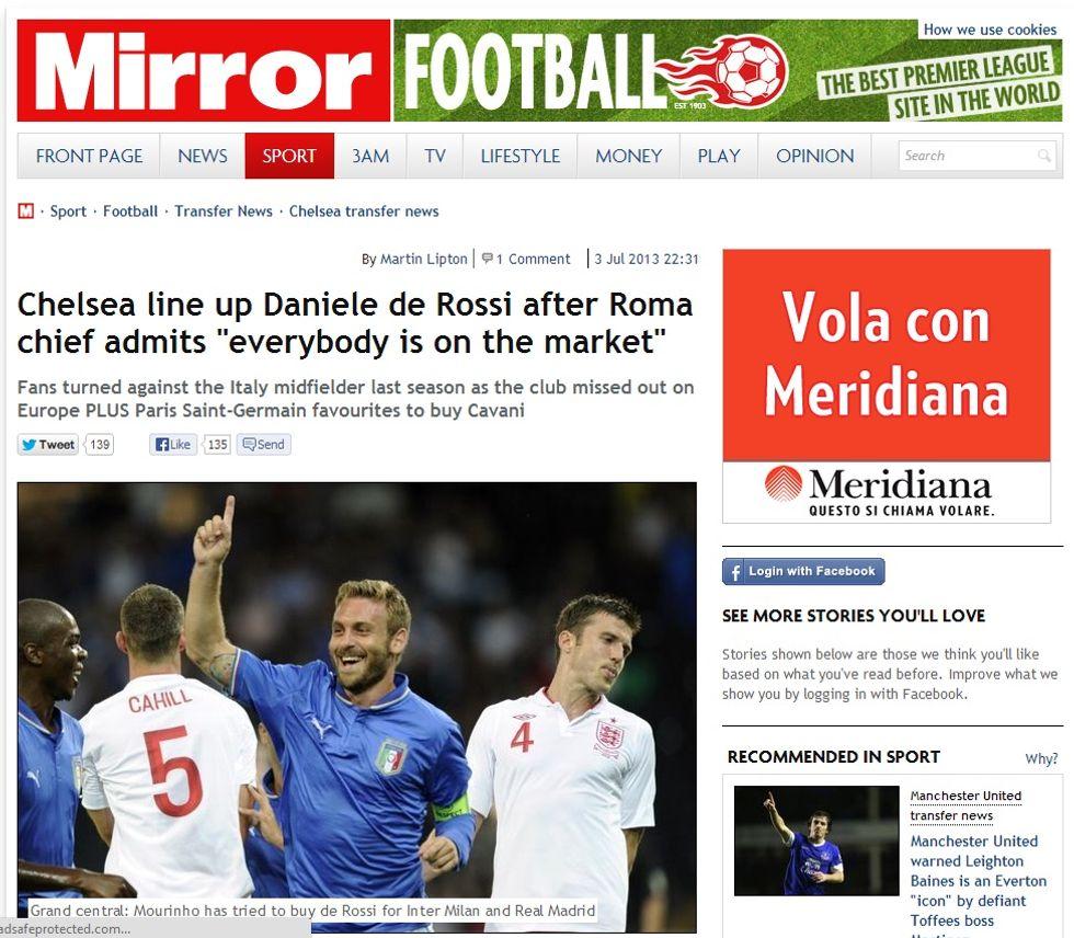 De Rossi - Chelsea, si fa sul serio