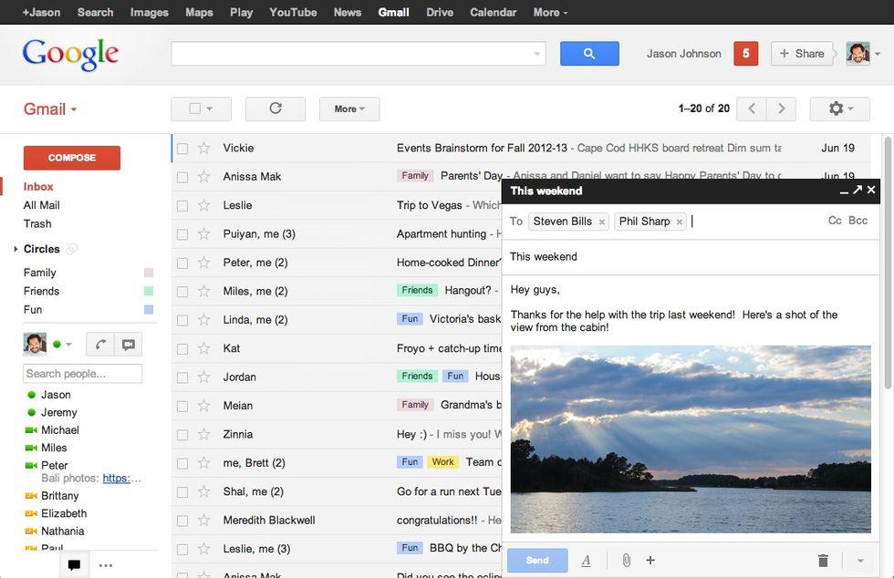 Gmail, da oggi puoi scrivere email senza uscire dall'inbox