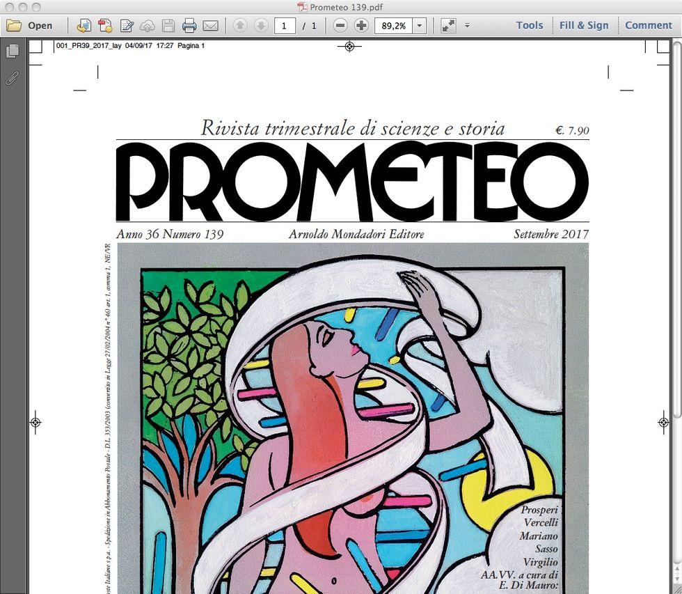 Prometeo: nel nuovo numero la ricostruzione storica del concetto di genoma