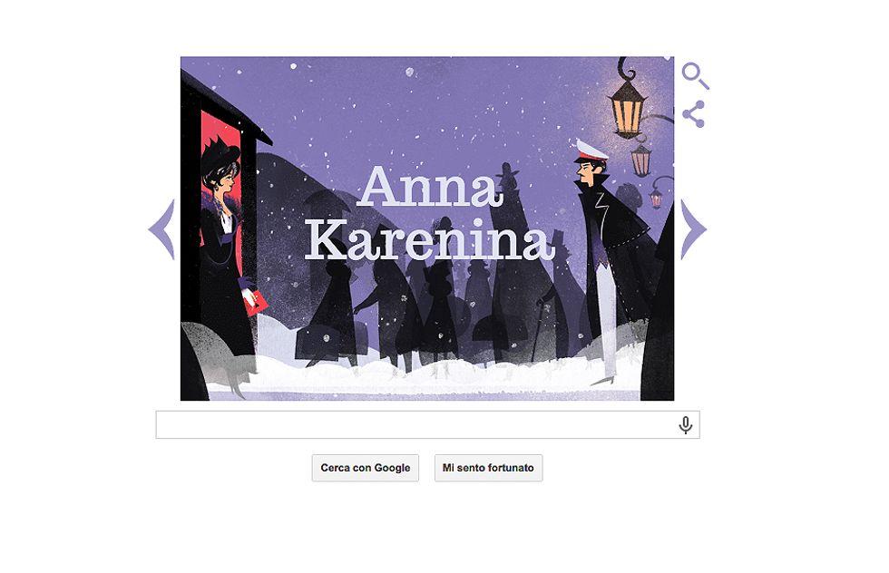 Google: un doodle per Tolstoj