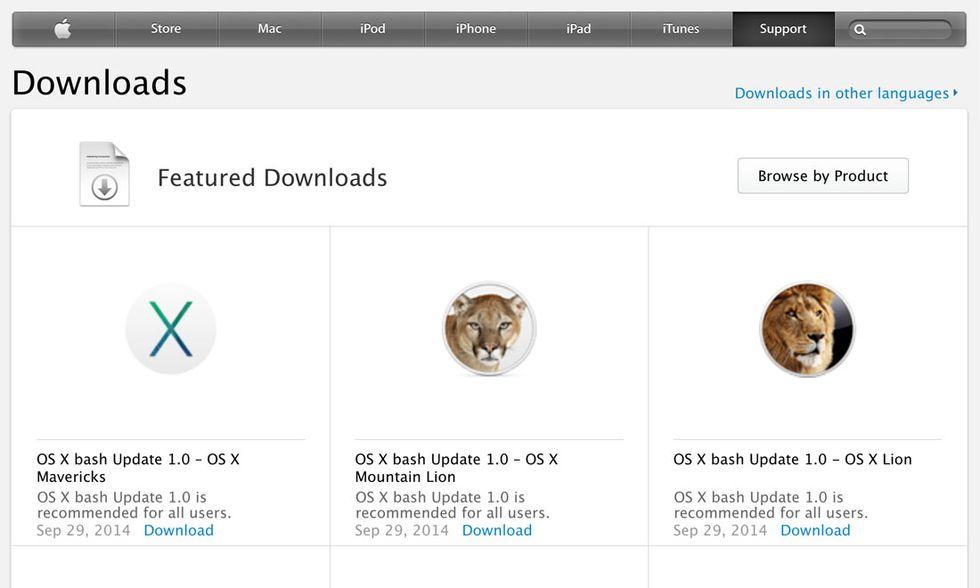 Shellshock: ecco la soluzione ufficiale di Apple