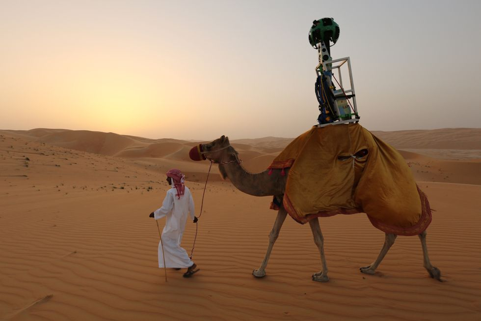 Google Street View nel Deserto Arabico