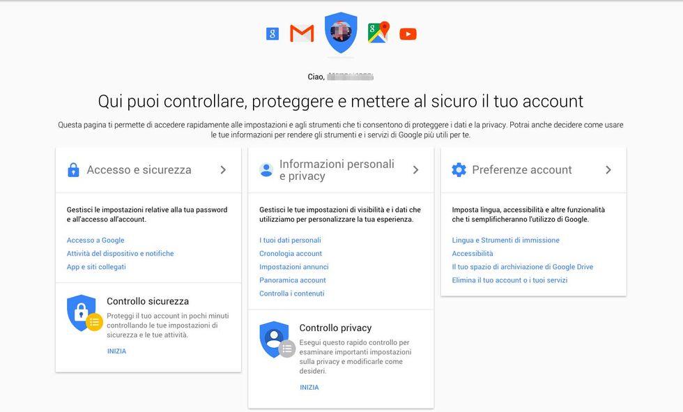 Google: ecco come gestire il proprio account