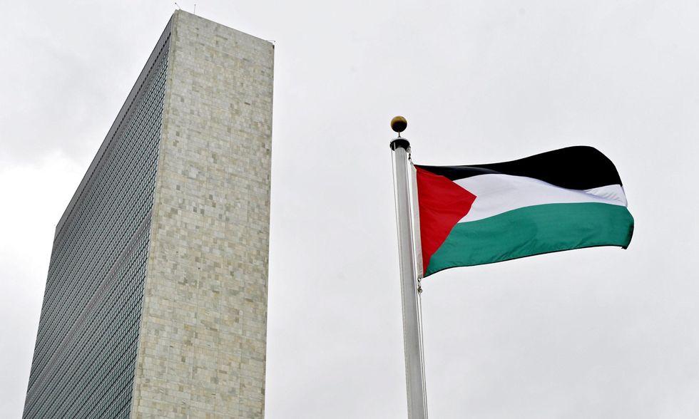 La bandiera palestinese all'ONU